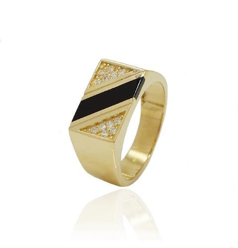 טבעת לגבר טבעות משובצות לגבר טבעת יהלומים לגבר בשילוב אמייל