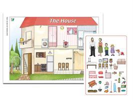 ערכה ללימוד חלקי הבית באנגלית | House Poster Game