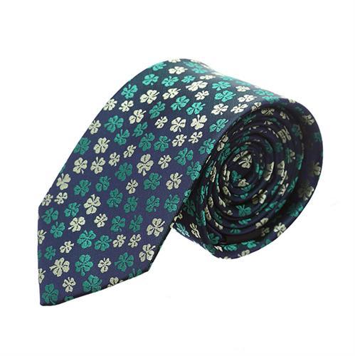 עניבה פרחים ירוק צהוב