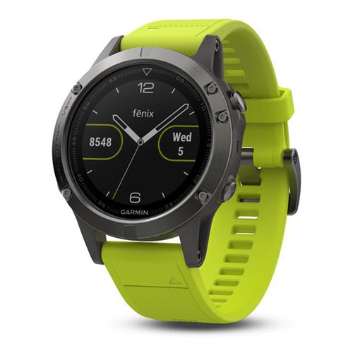 שעון דופק Garmin Fenix 5 Slate Gray with Amp Yellow Band