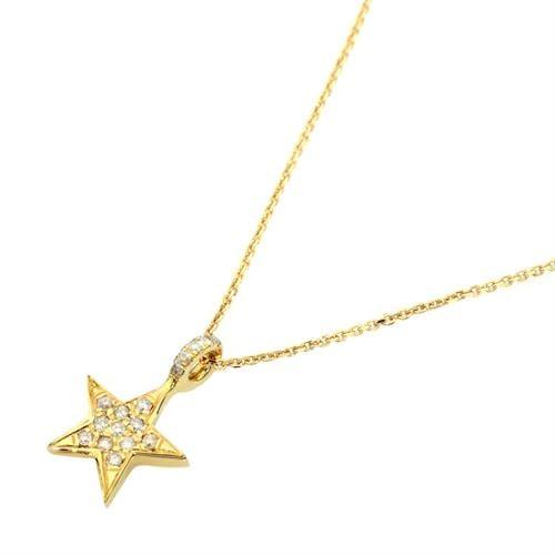 שרשרת כוכב זהב יהלומים