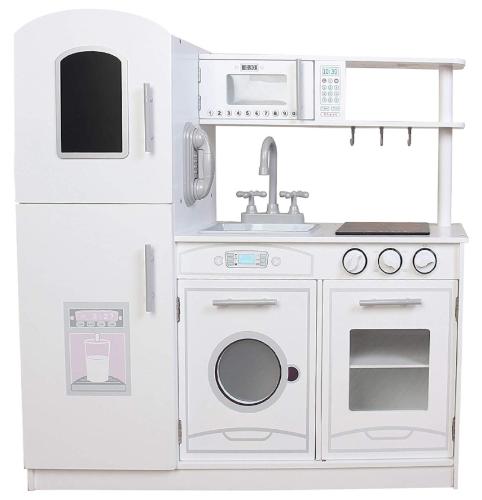 PLK539 - מטבח מעץ לילדים דגם אלרוי בצבע לבן - צעצועץ