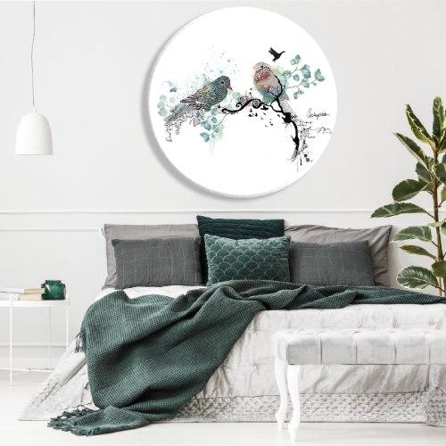 תמונת זכוכית - ציפורים