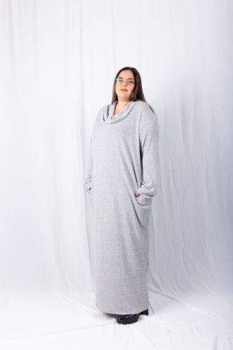 שמלת מנדי אפור בהיר