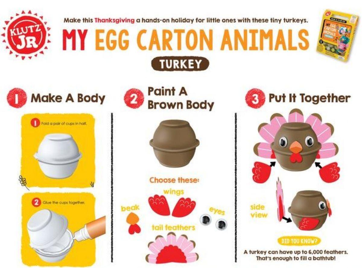 ערכת יצירה חיות בתבניות ביצים  - ג'וניור  KLUTZ