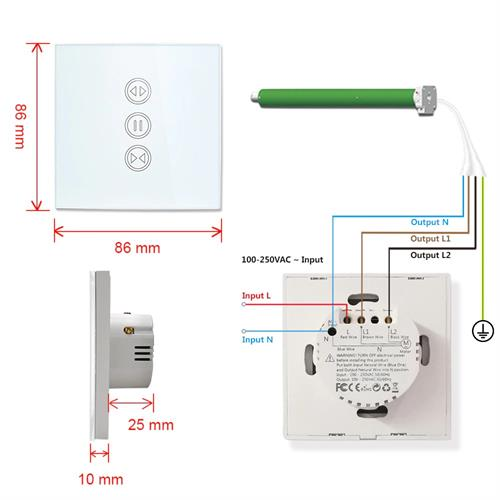 מתג WIFI לתריס חשמלי Tuya