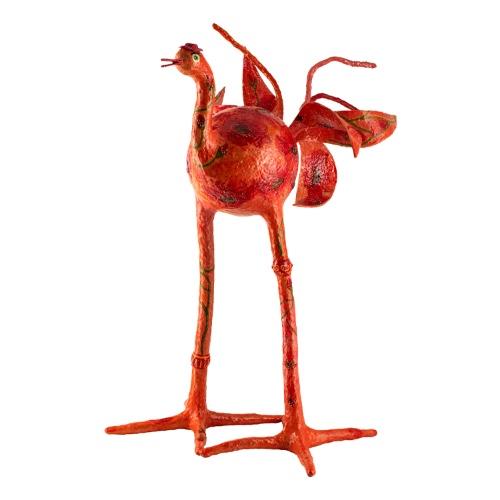 ציפור גדולה אדומה