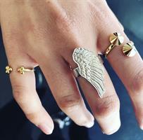 טבעת ניטים זהב