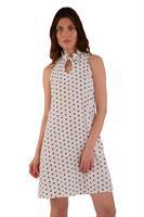 שמלת קייטלין לבן נקודות