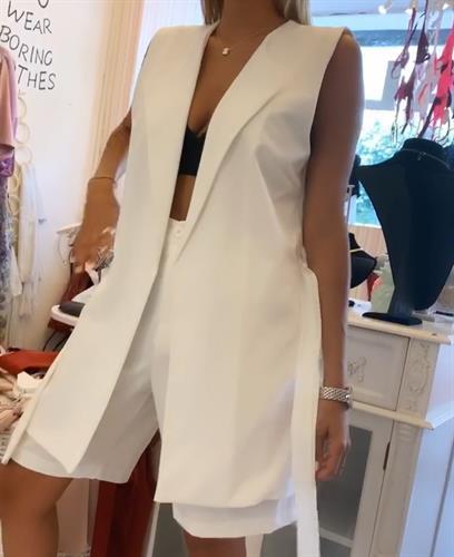 חליפת ווסט ברמודה - לבנה