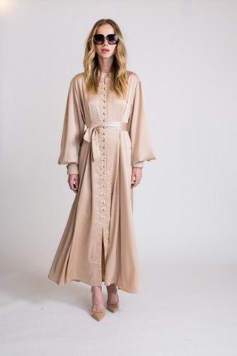 שמלת סאטן דגם לורן