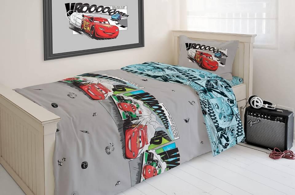 סט מלא מיטה וחצי דגם קארס פלנל