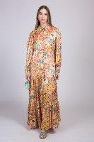 שמלת ערב מקסי שיפון שזירת זהב