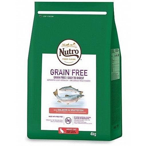 """נוטרו מזון לחתולים ללא דגנים סלמון ודג לבן 4 ק""""ג"""