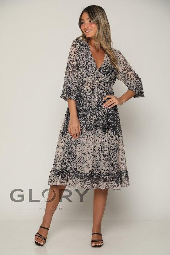 שמלת שיפון גומי GLORY