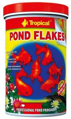 """מזון דפים לדגי בריכות 1000 מ""""ל (tropical)"""