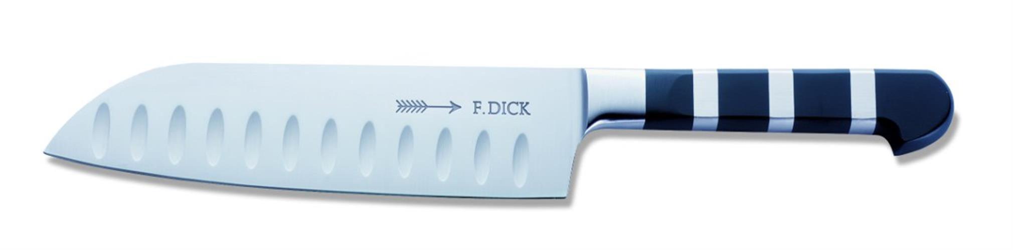 "סכין סנטוקו חריצים 18 ס""מ | DICK | 1905"