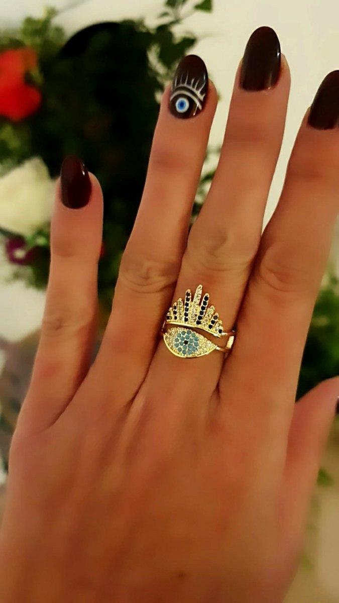 טבעת נעמה עין משובצת