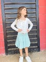 חצאית דריל קפלים מנטה
