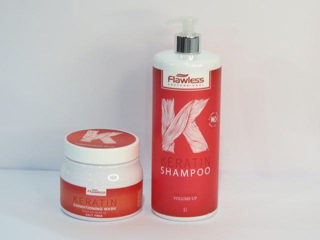 מסכה ושמפו לשיער דק ללא מלחים FLAWLESS