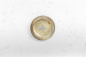 צלחת מתכת עגולה - כוכב (זהב)