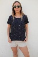 חולצת לוקה שחור כוכבים