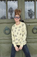 סוודר אבוקדו צהוב