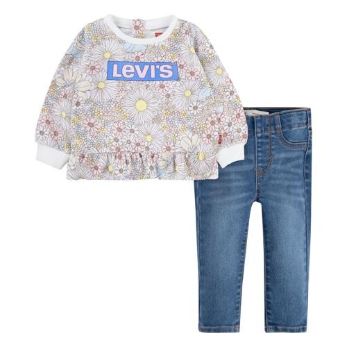חליפה פרחונית LEVIS BABY - מידות 3M-24M