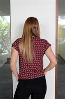חולצת נור משולשים אדום