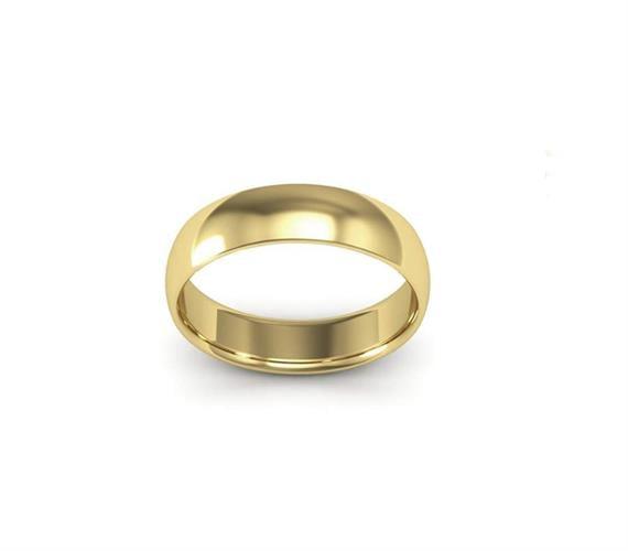 טבעת זהב עבה מעוגלת