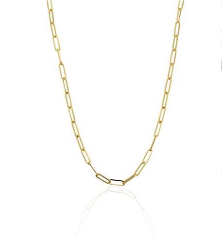 שרשרת זהב דגם אטב 55 סמ
