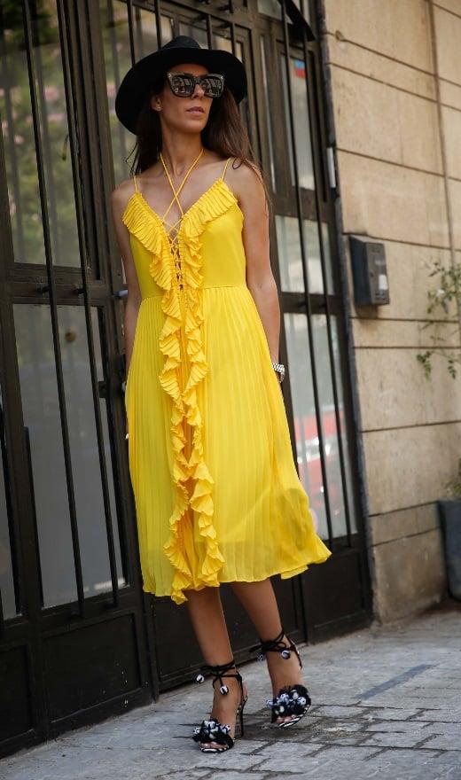 שמלת שיין צהובה