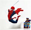 קופץ עם קורים - מדבקות קיר ספיידרמן בתלת מימד