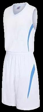 תלבושת כדורסל בעיצוב אישי White דגם #6009
