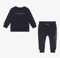 Tommy Hilfiger חליפה שחורה לתינוק מידות NB עד שנתיים