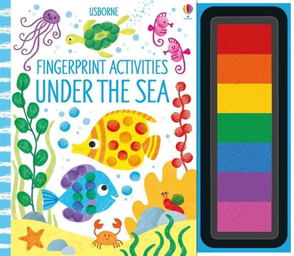 יצירה בטביעות אצבעות - מתחת לים