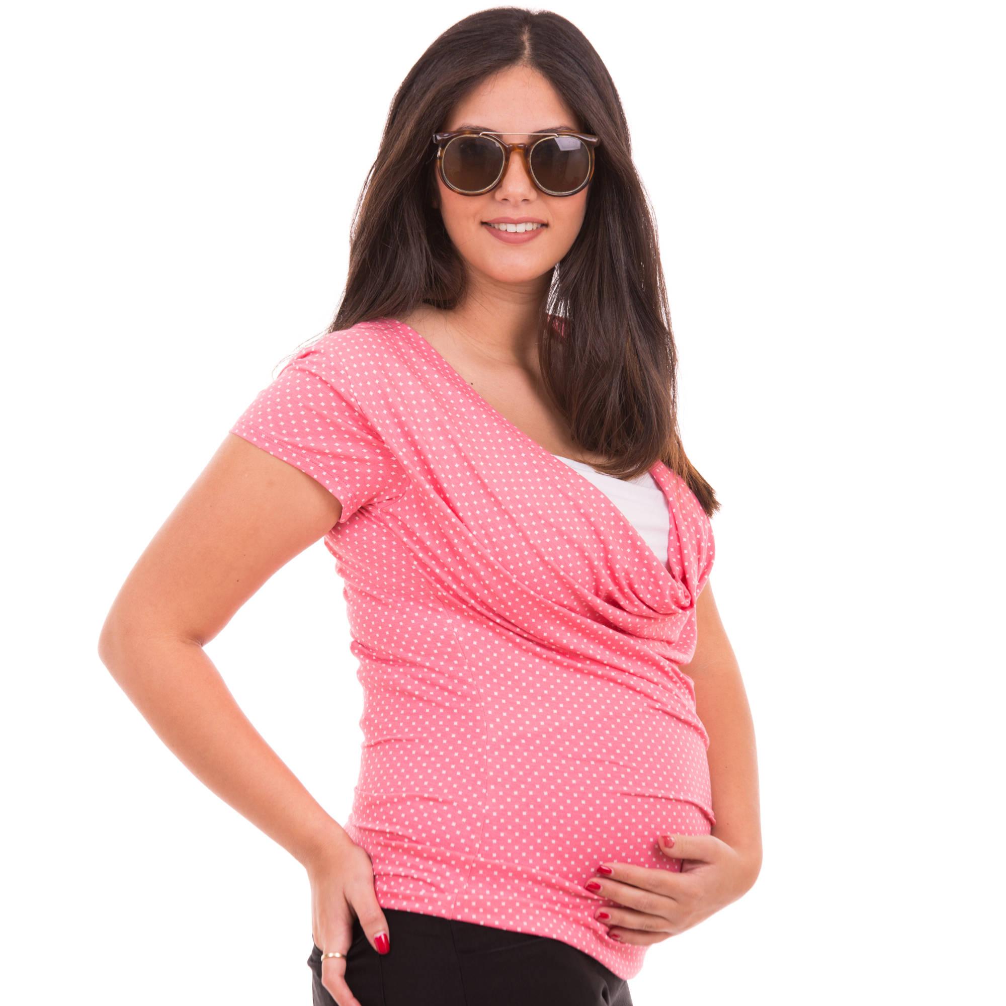 חולצת הריון רבידה שרוול קצר