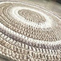 שטיח סרוג לחדר הילדים, שטיחים לחדרי ילדים ונוער, שטיח במראה נורדי לעיצוב הבית, שטיח סרוג בגוונים טבעיים, שטיח סרוג בחוטי טריקו גוונים נורדיים טבעיים, שטיח סרוג עיצוב נורדי