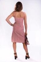 שמלהת אריג צמודה עם כתפיות ספגטי