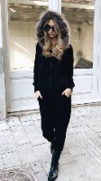 חליפת קפושון פרווה שחור