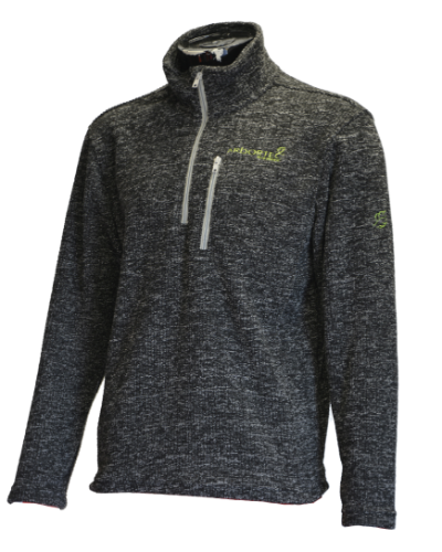 פליז אפור-ARBORTEC WOLF - HALF-ZIP KNITTED FLEECE - GREY