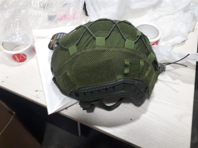 כיסוי  לקסדה טקטית / בליסטית מדגם FAST HIGH CUT בצבע ירוק זית/ שחור
