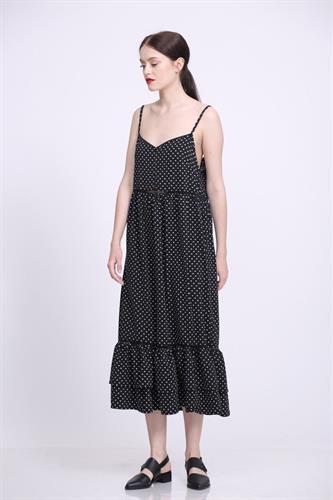 שמלת דולי שחור לבן