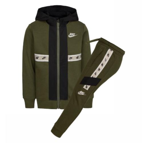 חליפה NIKE שילוב צבעים ירוק זית מידות 4-7