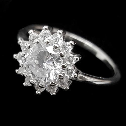 טבעת מכסף משובצת זרקונים RG5531 | תכשיטי כסף | טבעות מכסף
