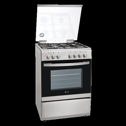 תנור משולב גז/חשמל BAYERE דגם: BA 6363 לבן/נירוסטה