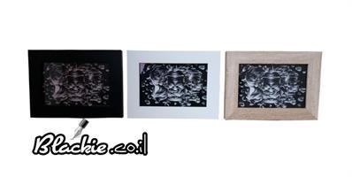 """הדפס גראפי """"דפוס"""" קומבינשין 3 מיסגרת 15×19"""