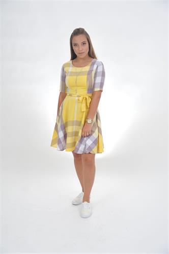 שמלת שיק משבצות