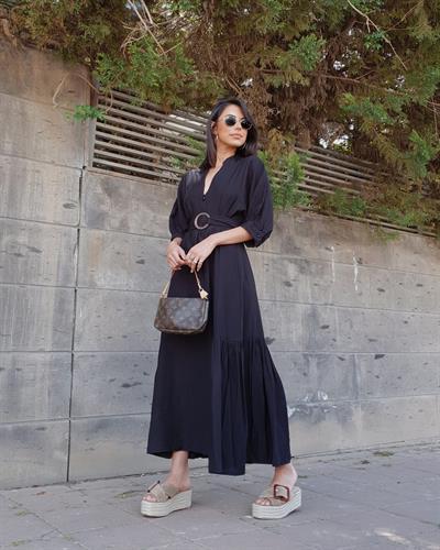 שמלת ולנסיה - שחורה