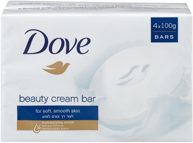אל סבון מוצק דאב מכיל 25% לחות מארז רביעיה 100 גרם* 4